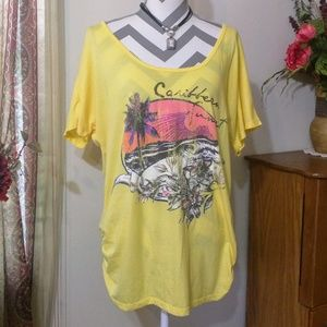Maurices Yellow Lightweight Top